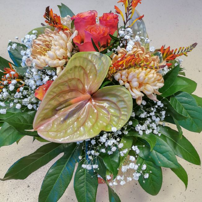 Strauss mit Anthurium